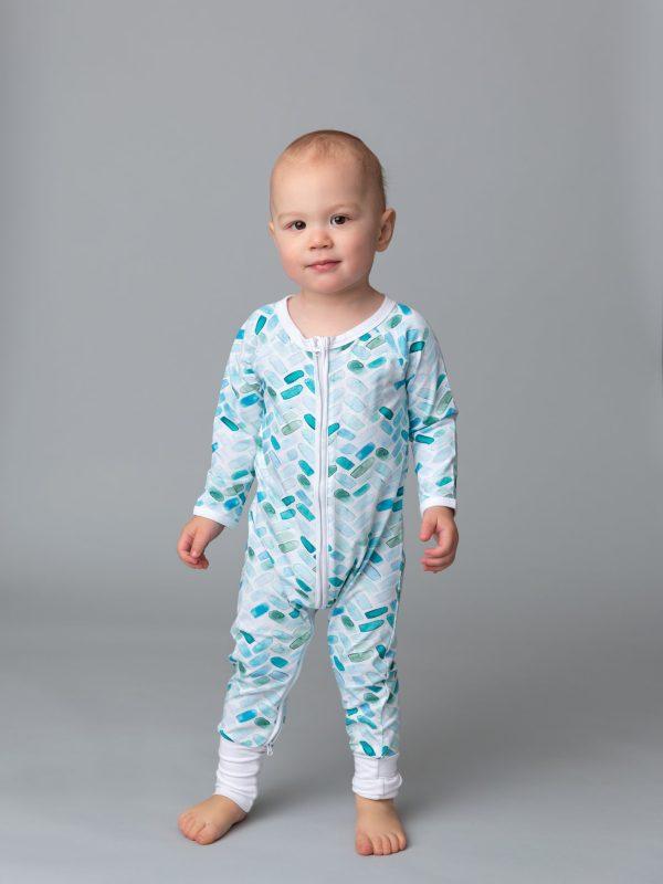 Baby Romper | Custom Digital Print, Foot Grips, Two Way Zips
